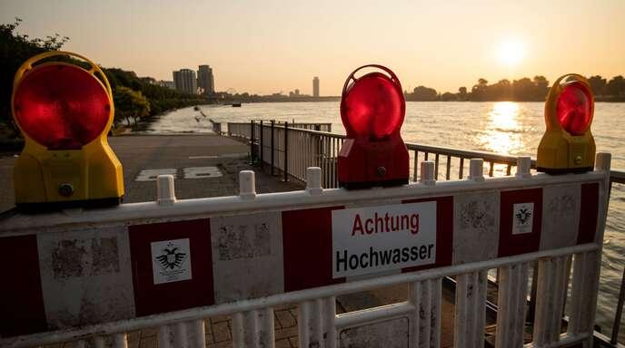 Hochwasser am Rhein – die Flüsse im Südwesten sind gefährdet.