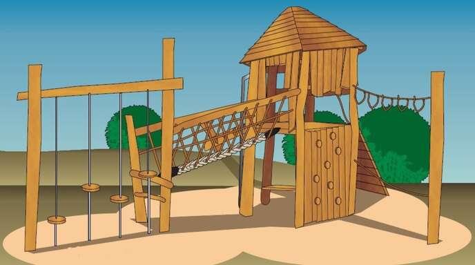 Eine derartige Spiel-Kombination soll künftig den Schulhof der Grundschule Eckartsweier bereichern.