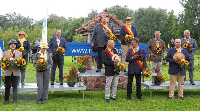 Siegerehrung für die Besten beim RFV Ottenheim.