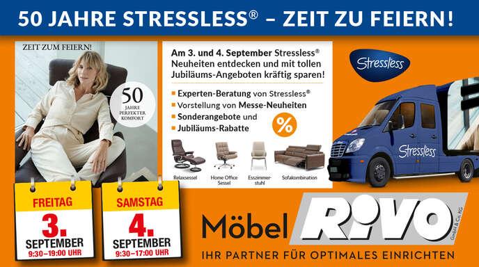 Selbstverständlich sind am 3. und 4. SeptemberStressless®-Experten vor Ort, die eingehend beraten.