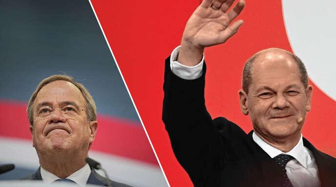 Bundesweit landete Armin Laschet (links) mit der CDU hinter der SPD von Olaf Scholz. Doch wie sieht es in der Ortenau aus?