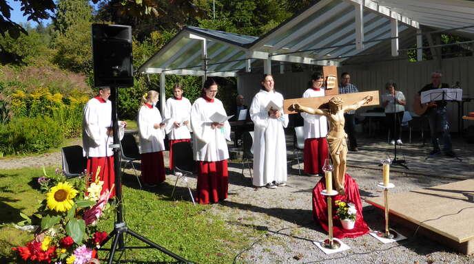 Pastoralreferentin Lioba Jörg leitete den Familien-Wortgottesdienst.