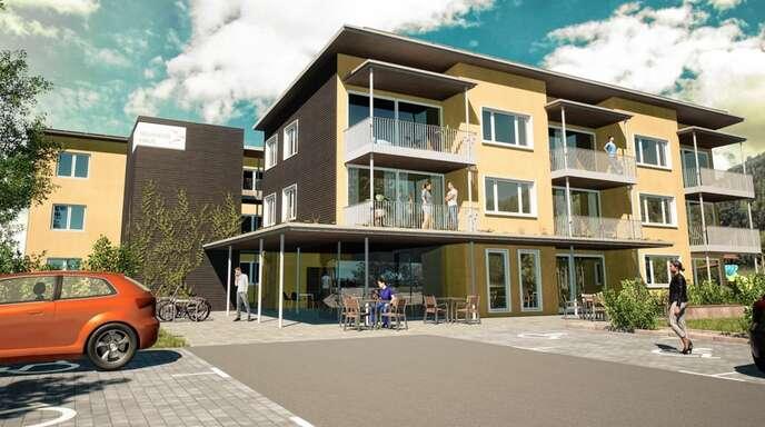 """So sollen die """"Neumayer Häuser"""", das solidarische Wohnprojekt im Hausacher Badenwerk-Areal, einmal aussehen."""