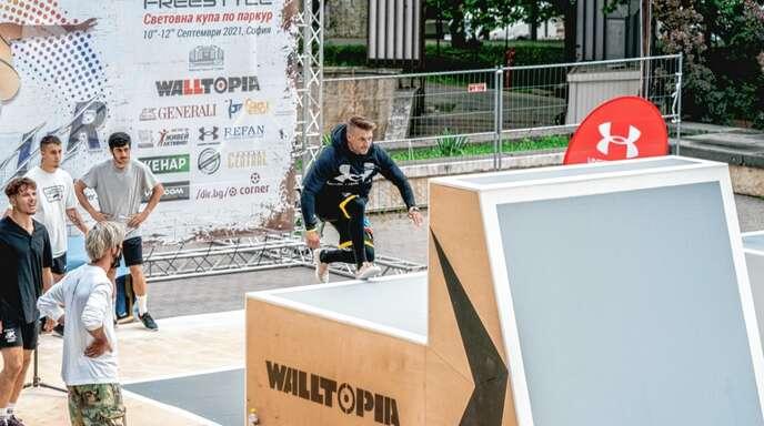 Parkour-Profi Andy Haug erreichte beim Weltcup in Sofia den 19. Platz.