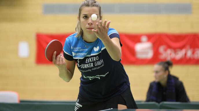 Das Runde im Blick: Theresa Lehmann von der DJK Offenburg.