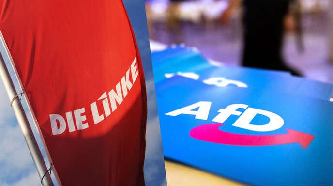 Beide Partien am politischen Rand – die AfD und die Linke – haben bei der Bundestagswahl keine Machtoption und präsentieren sich innerlich zerstritten.