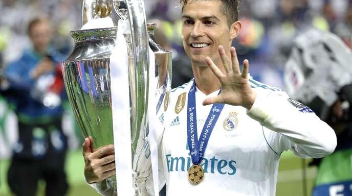 Cristiano Ronaldo hat 2018 als erster Spieler fünf Mal die Champions League gewonnen.