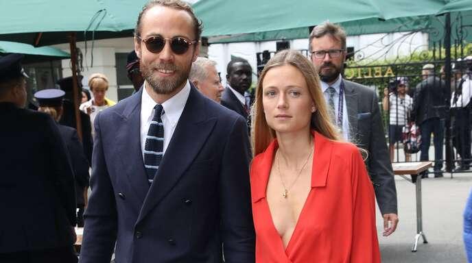 James Middleton und Alizee Thevenet im Jahr 2019 in Wimbledon.