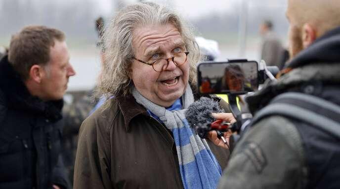 Heinrich Fiechtner Ende 2020 bei einer Demonstration der sogenannten Querdenker.