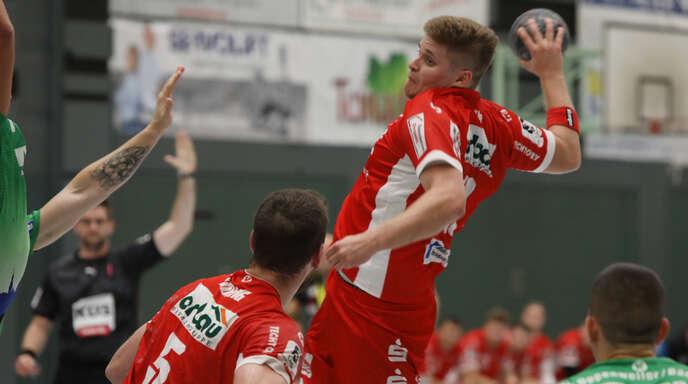Alexander Velz hielt den TV Willstätt mit seinen Toren lange im Spiel, konnte aber die Niederlage gegen den HC Oppenweiler/Backnang nicht verhindern.