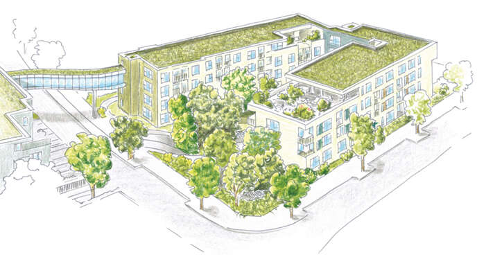 Modern, sicher, barrierefrei und zentrumsnah in Achern wohnen, das ermöglicht die Wohnimmobilie AcherAPARTMENTS gleich 71 Mal (unverbindliche Illustration).