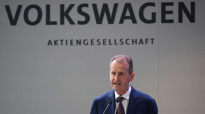 Im Gegenwind: VW-Chef Herbert Diess.