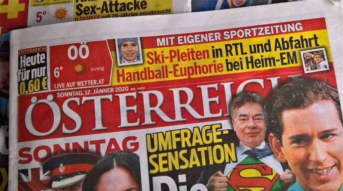 """Die Tageszeitung """"Österreich"""" steht wegen mutmaßlich gekaufter Umfragen im Zentrum eines Regierungsskandals."""