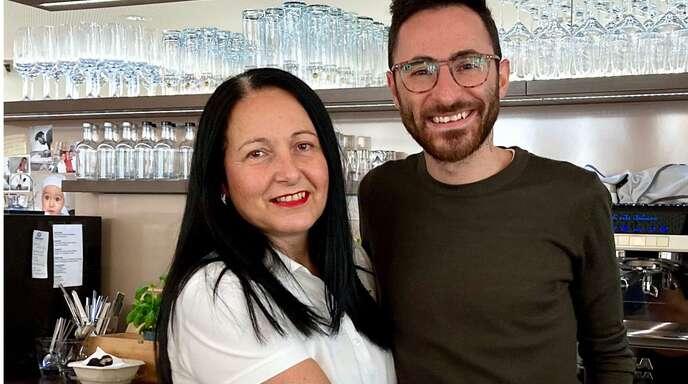 Da Nico in Reutlingen: Maria Anna Contino und ihr Sohn Carlo