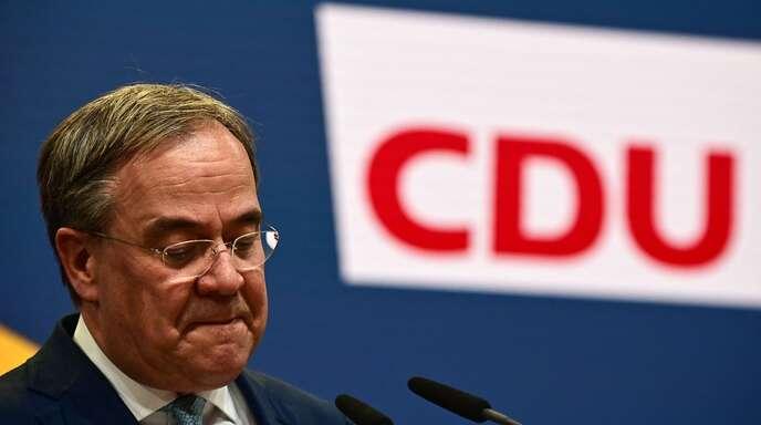Armin Laschet wird den CDU-Vorsitz aufgeben.