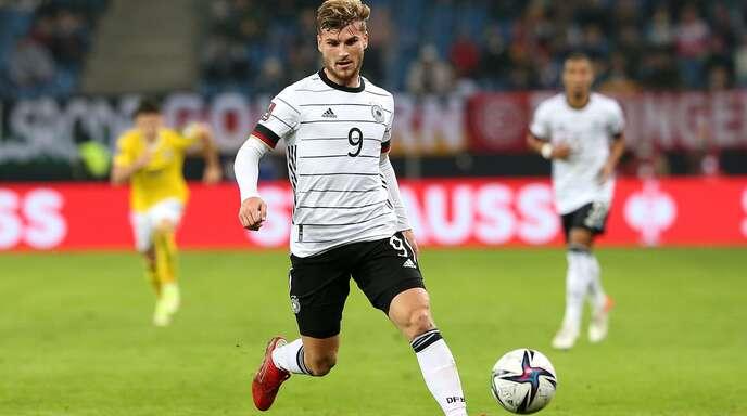 Timo Werner hat 46 Länderspiele auf dem Buckel und dabei 19 Tore erzielt – dennoch spielt der 25-Jährige oft unglücklich.