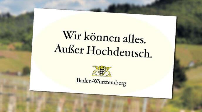 Den beliebtesten Slogan aller Bundesländer hat laut einer Online-Umfrage Baden-Württemberg.