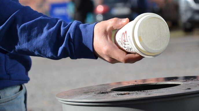 Das Wegwerfen von Kaffeebechern soll mit der Initiative des Eurodistrikts der Vergangenheit angehören.