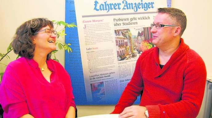 Daniela Edte und Jochen End kannten sich bis zum Gespräch beim Lahrer Anzeiger nicht. Sie ist aus Friesenheim, er aus Heiligenzell.