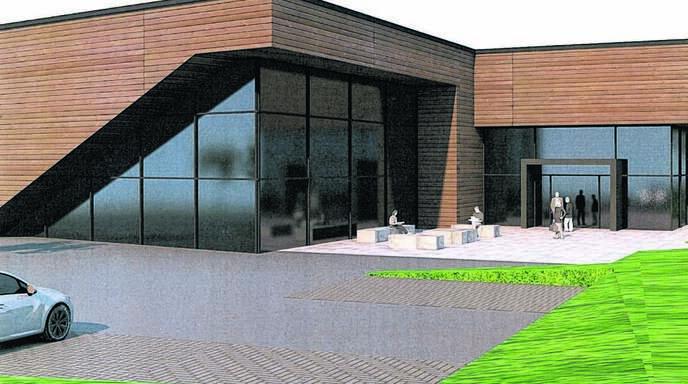 Die neue Produktionshalle der Edelobstbrennerei Fies entsteht im Baugebiet Hutmatt II in Haslach.