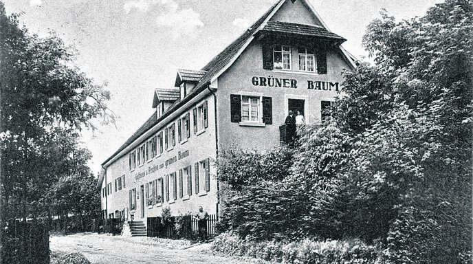 Die Aufnahme einer Postkarte zeigt das Gasthaus »Grüner Baum« in Oberkirch-Ödsbach in den 30er-Jahren.