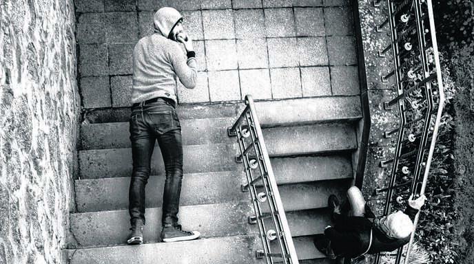 Das Siegerbild von 2016 setzt die Offenburger Wenk-Treppe auf ungewöhnliche Weise in Szene. Fotografiert hat es Dominique Schmuck.