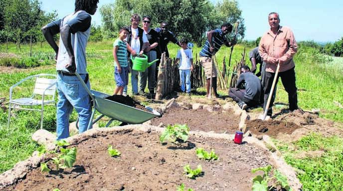 Auf einem gemeindeeigenen Gelände können Flüchtlinge und Laufer Bürger gemeinsam einen Garten anlegen und Kontakte aufbauen.