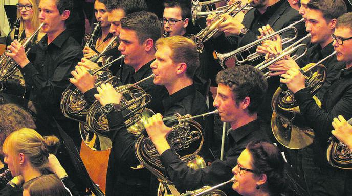 Die jungen Musiker begeisterten ihre Zuhörer in der Sternenberghalle.