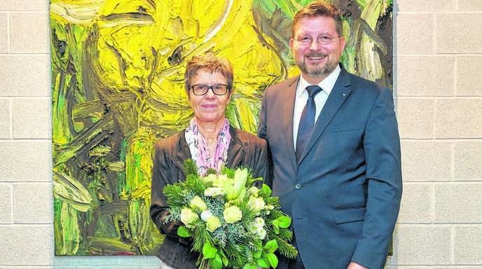Verabschiedung in den Ruhestand: Marietta Richter und Bereichsleiter Michael Panter.