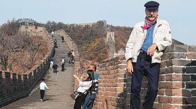 Wilfried Trapp aus Kappelrodeck besuchte bei seiner großen Reise auch die chinesische Mauer.