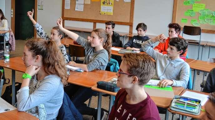 Auf welche weiterführende Schule soll es gehen? Unser Foto entstand im Gymnasium Achern.