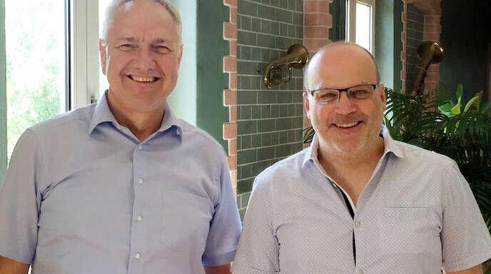 Der musikalische Leiter Wolfgang Geiger (links) und Lions-Präsident Jörg Ammann freuen sich auf das Benefizkonzert am Samstag in Oberkirch.