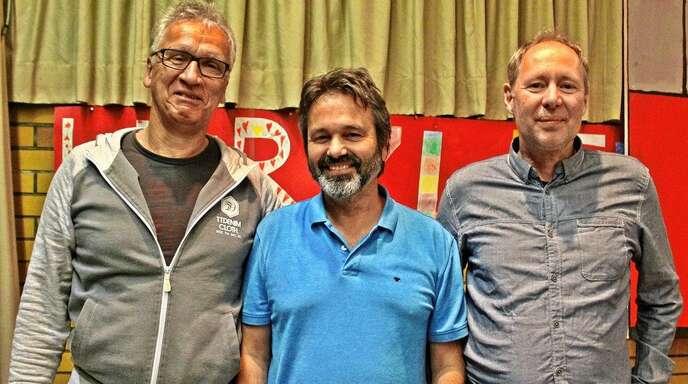 Änderungen im Vorstand der TTF Schwanau/Meißenheim (von links): Lothar Hahn-Leonhardt ist neuer stellvertretender Vorsitzender; ihm gratulierten Vorsitzender Florian Bieber und Stellvertreter Marco Sous.