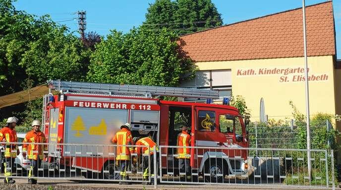 Ein durchgebranntes Kabel sorgte im Elisabeth-Kindergarten in Oberschopfheim für einen Brandalarm.