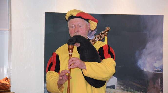 Das Mittelalter hat der Gaukler und Spielmann Günter Frei in der »Kult-Tour« wach werden lassen.