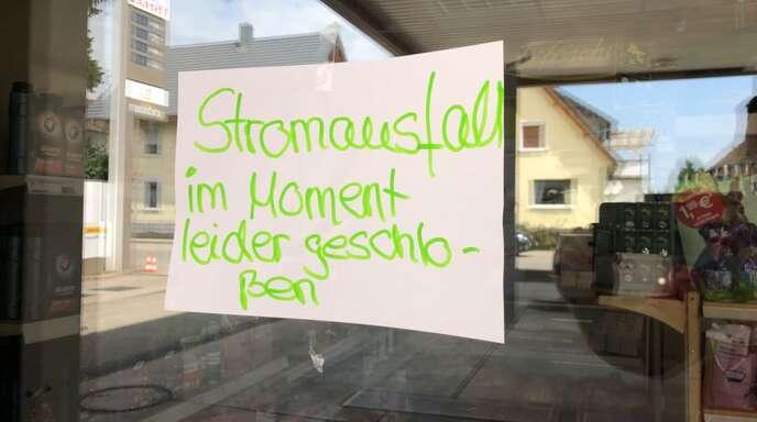 Die Tankstelle ist in Sasbach ist wegen des Stromausfalls geschlossen.