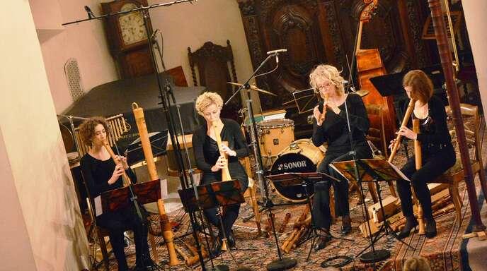 Fesselnd war das Konzert des Quartetts Flautando in der Alten Kirche Fautenbach.