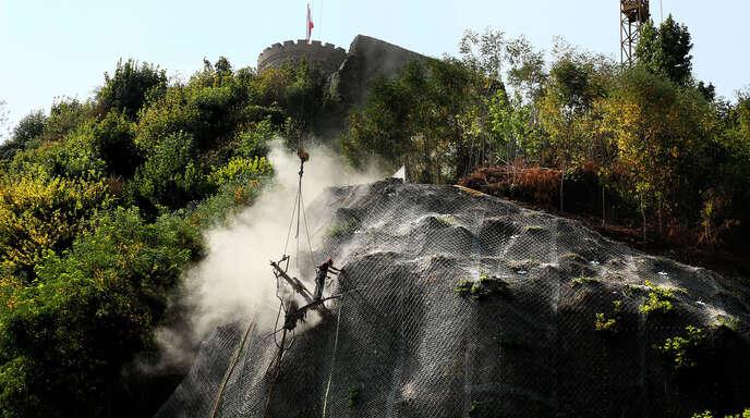 200 Tonnen Gestein wurden vor mehr als zwei Jahren am Hausacher Schlossberg gesichert.