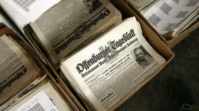 Silvester-Walking, Verkauf von historischen Ausgaben des Offenburger Tageblatts, Neujahrsschwimmen – seit 20 Jahren werden kreativ Spenden gesammelt. Den Vorsitzenden Thomas Reizel (kleines Bild)freut es.
