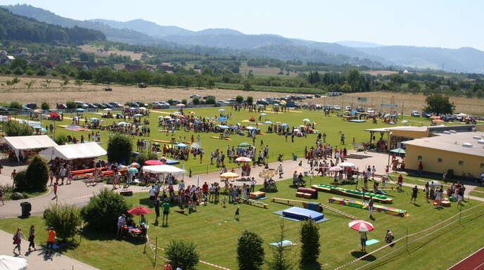 Auf dem Gelände rund um die Brumatthalle in Ohlsbach findet ein Großteil der Wettkämpfe statt.
