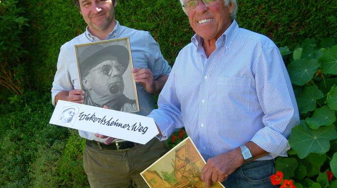 Eberhard Stulz (rechts), Ex-Präsident des Schwarzwaldvereins Lahr, und Vorsitzender Andreas Kaufmann wollen den »Wickertsheimer-Weg« verwirklichen.