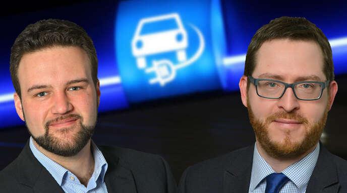 Ein Thema, zwei Meinungen: Redaktionsvolontär Marc Mudrak (links) und Wirtschaftsredakteur Tobias Symanski diskutieren über die Förderung von E-Autos.