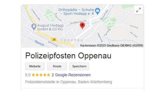 Polizeipfosten Oppenau