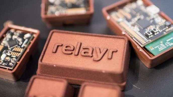 Sensoren des Startups «relayr», aufgenommen auf der CeBIT in Hannover.