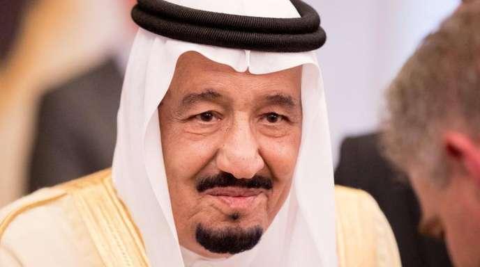 Der König des Königreichs Saudia-Arabiens, Hüter der Heiligen Stätten, Salmanbin Abdelasis al-Saud.