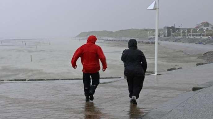 Strandpromenade auf Norderney.