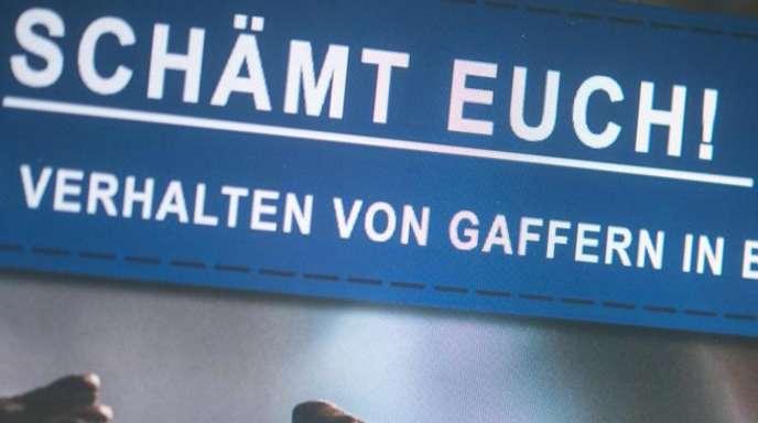 «Schämt Euch!» Facebook-Post der Polizei Offenburg nach einem skandalösen Vorfall mit Gaffern.