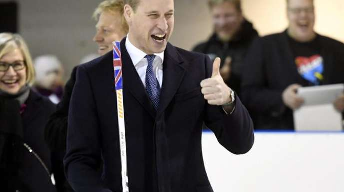 Der britische Prinz William inHelsiniki bei einem Besuch der «Icehearts».