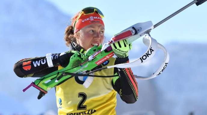 Biathletin Laura Dahlmeier kehrt in Hochfilzen in den Weltcup zurück.