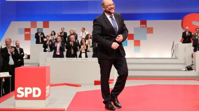Martin Schulz auf dem Bundesparteitag der SPD in Berlin.